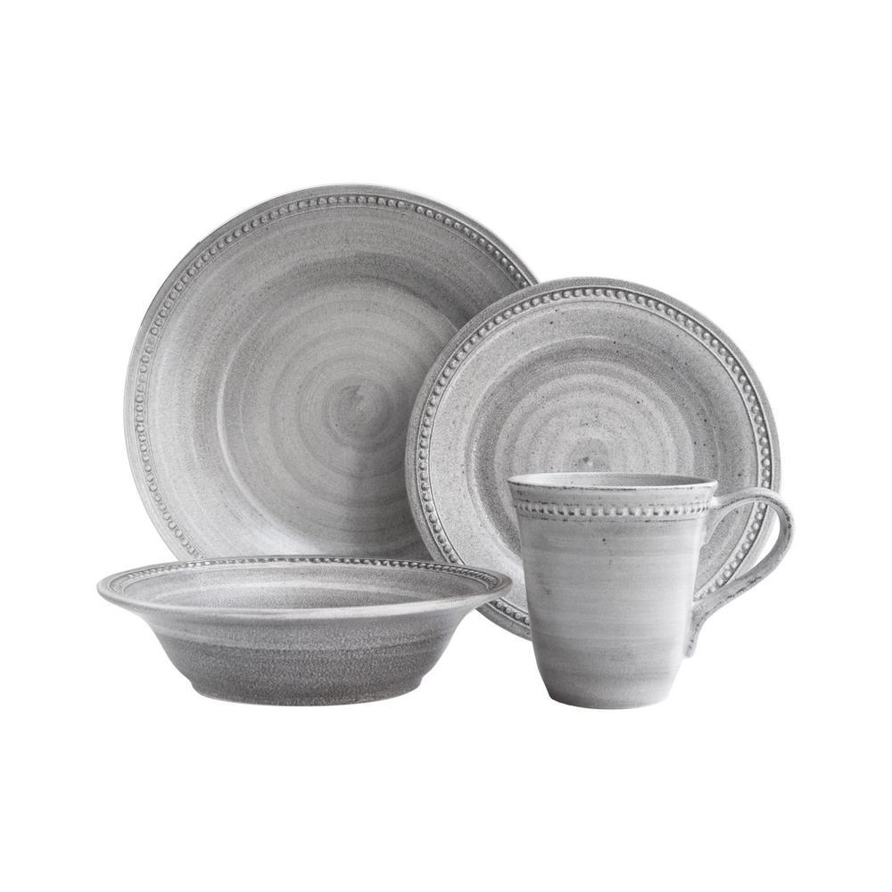 18dc8d8bae5c American Atelier Stone 16-Piece Gray Dinner Set 6856-16-rb - The ...