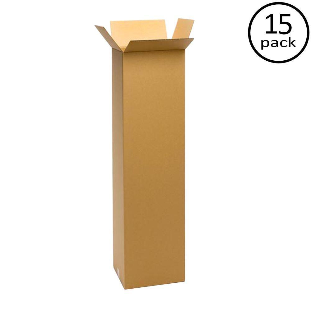 12 in. L x 12 in. W x 48 in. D Moving Box (15-Pack)