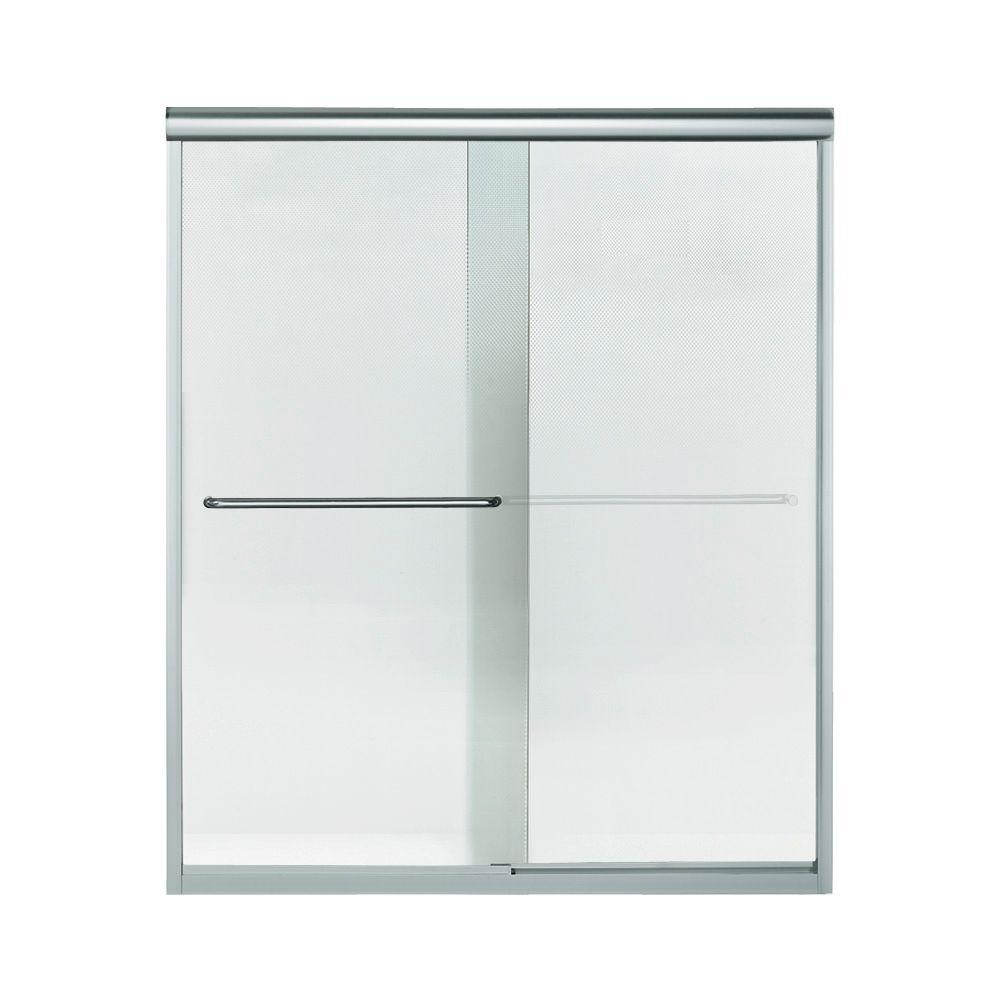 STERLING Finesse 59-5/8 in. x 70-1/16 in. Semi-Frameless Sliding Shower Door in Silver with Handle-5475-59S-G69 - The Home Depot  sc 1 st  Home Depot & STERLING Finesse 59-5/8 in. x 70-1/16 in. Semi-Frameless Sliding ...