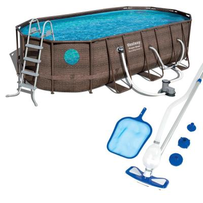 Power Swim Vista 18 ft. x 9 ft. x 4 ft. Pool Set with Pump and Maintenance Kit