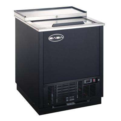 26.5 in. Commercial Chest Freezer Glass and Bottle Chiller in Black and Stainless Steel