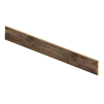 Nashville Oak 47 in. L x 1/2 in. D x 7-3/8 in. H Vinyl Overlay Riser to be Used with Cap A Tread