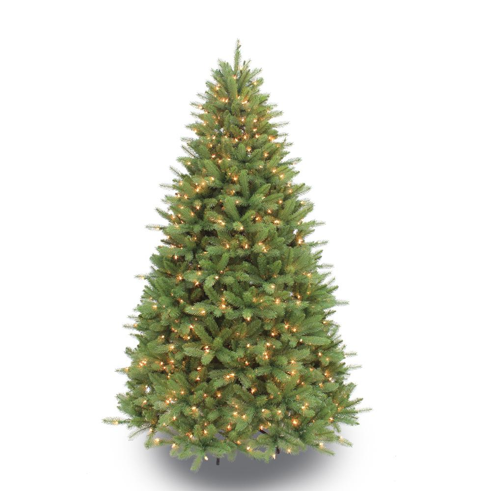 sterling 7 5 ft pre lit lightly flocked canyon fir christmas tree 5867 75c the home depot. Black Bedroom Furniture Sets. Home Design Ideas