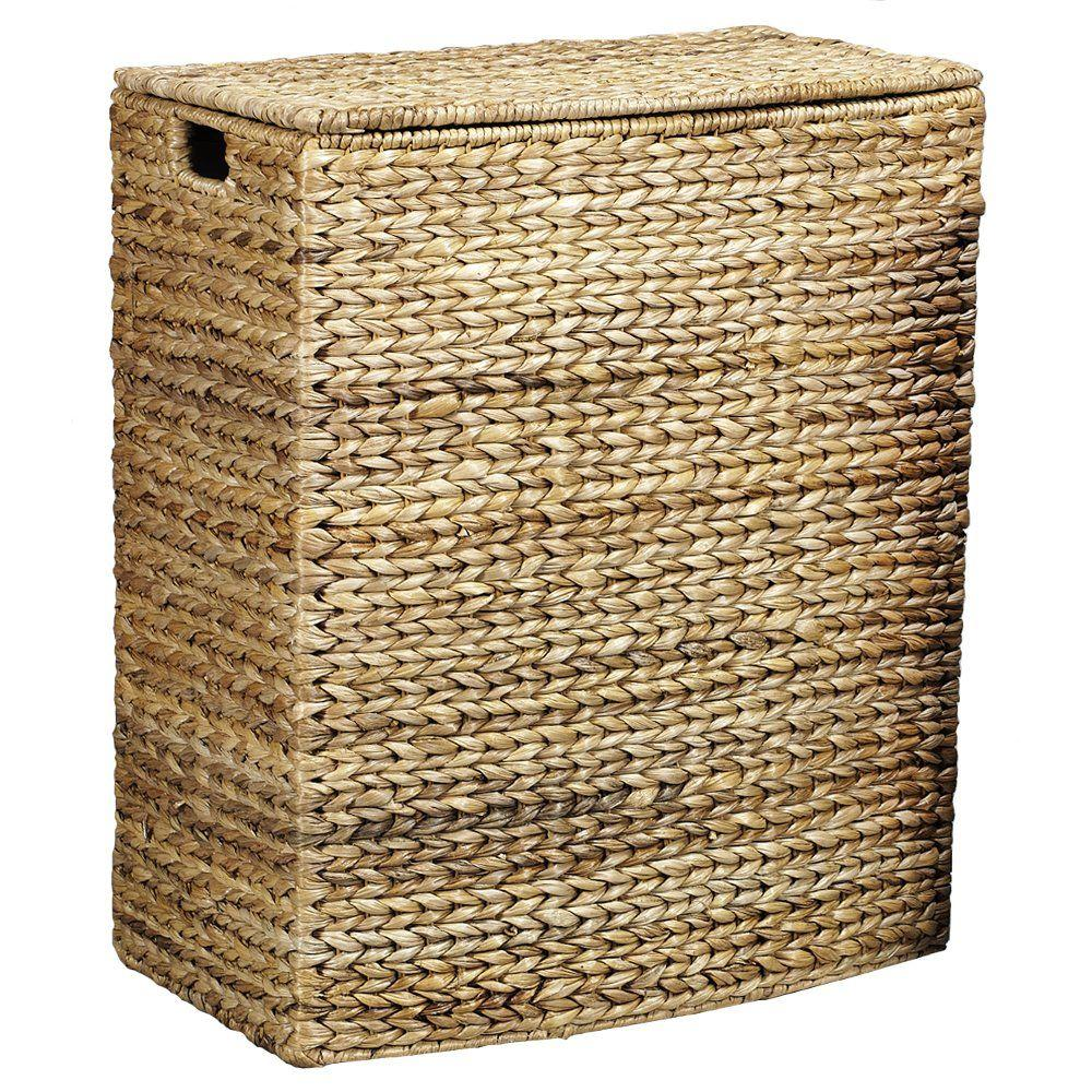 Home Decorators Collection Leaf Hampers with Liner Rectangular 21 In. W in Honey