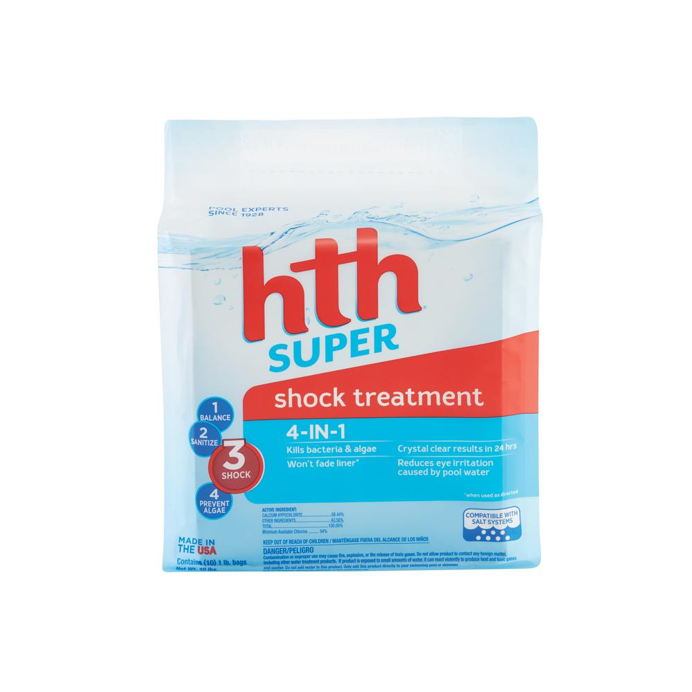 Hth super shock treatment 10 x 1 lb bags 52011 the home for Pond chemicals