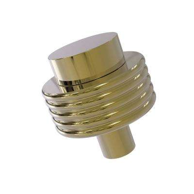 1-1/2 in. Cabinet Knob in Unlacquered Brass