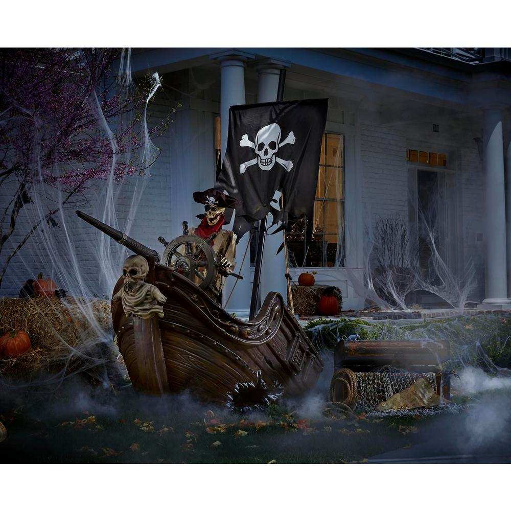 Home Accents Holiday 116 in Pirate Ship with Animated Steering Wheel