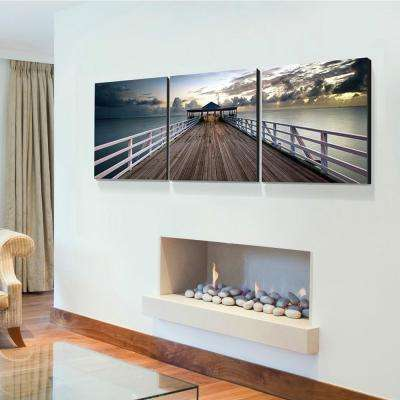 "20 in. x 60 in. ""Brisbane Pier"" Printed Canvas Wall Art"