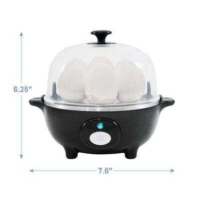 7 Eggs Automatic Easy Egg Cooker Black Color
