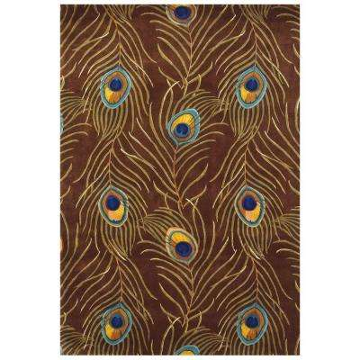 Peacock Quill Multi 5 ft. x 8 ft. Area Rug