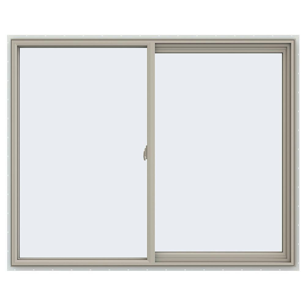 59.5 in. x 47.5 in. V-2500 Series Right-Hand Sliding Vinyl Window