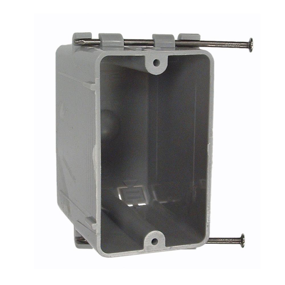 RACO Single Gang Rectangular Non-Metallic Cable Box, 3-3/16 in. Deep ...