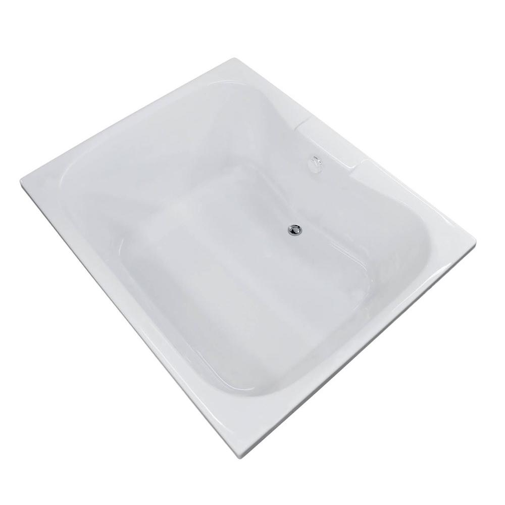 Universal Tubs Rhode 5 ft. Acrylic Center Drain Rectangular Drop-in Non-Whirlpool Bathtub in White