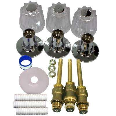 S10-220 Windsor 3-Handle Valve Rebuild Kit with Acrylic Handles