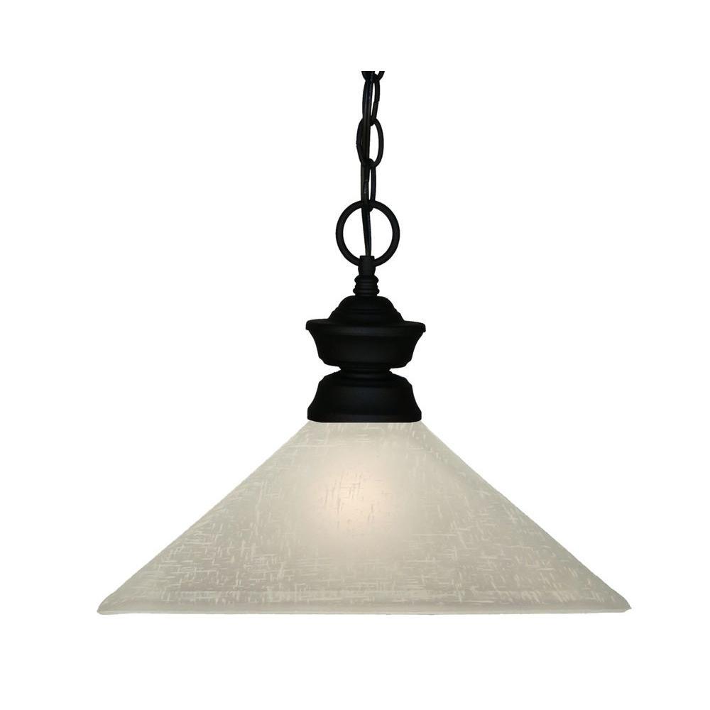 Filament Design Lawrence 1-Light Sand Black Incandescent Ceiling Pendant