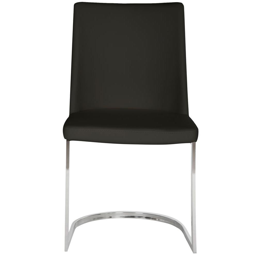 Safavieh Parkston Black Leather Side Chair Set Of 2