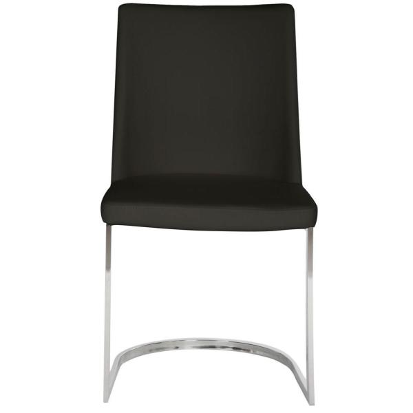 Parkston Black Leather Side Chair (Set of 2)
