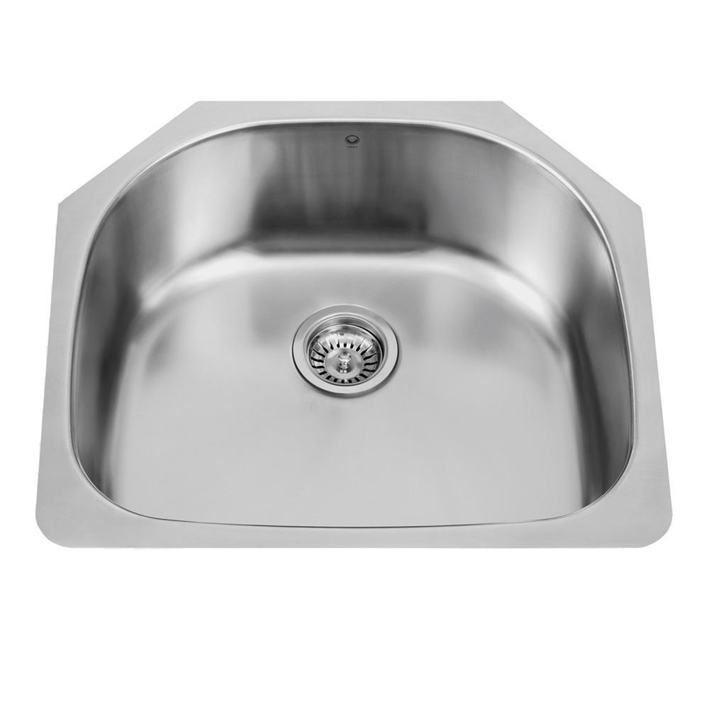VIGO Undermount 24 in. Single Basin Kitchen Sink in Stainless Steel
