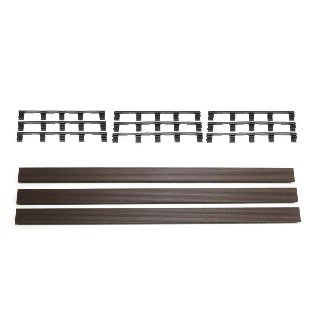 NewTechWood Deck-A-Floor Premium Spanish Walnut Fascia Kit (3-Pieces/Box)
