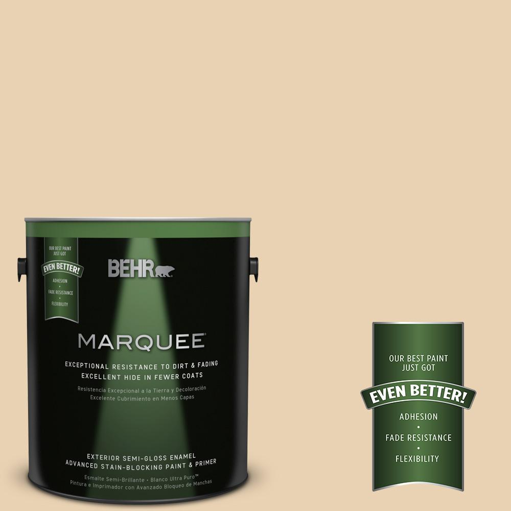 BEHR MARQUEE 1-gal. #S300-2 Powdered Gold Semi-Gloss Enamel Exterior Paint