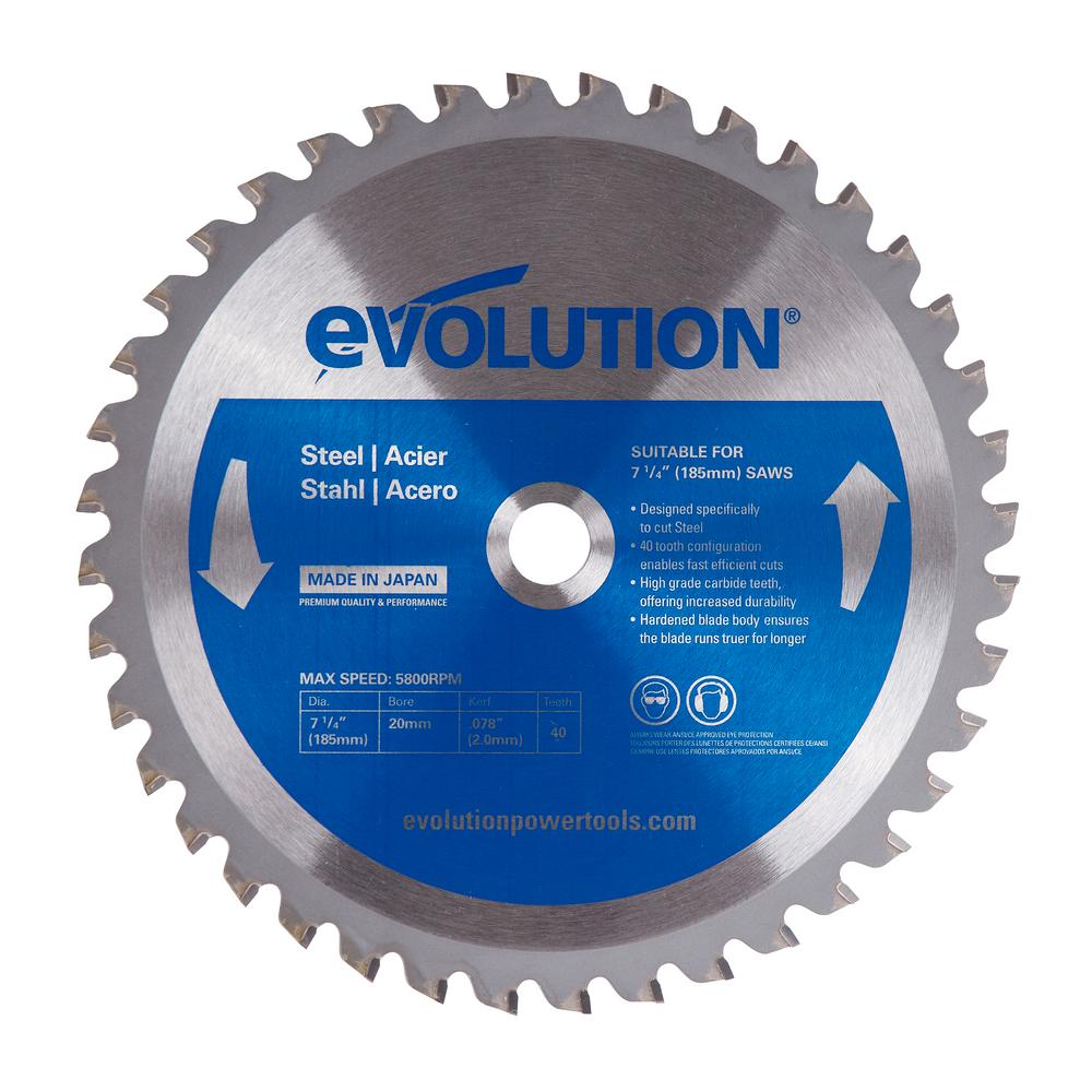 Evolution Power Tools 7-1/4 in. 40-Teeth Mild Steel Cutting Saw Blade