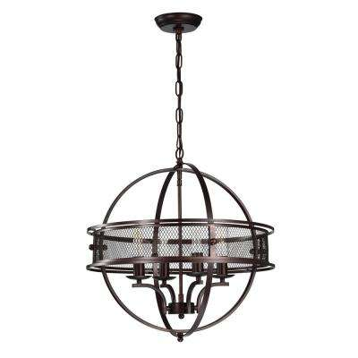 Sario Matte Black 4-light Chandelier