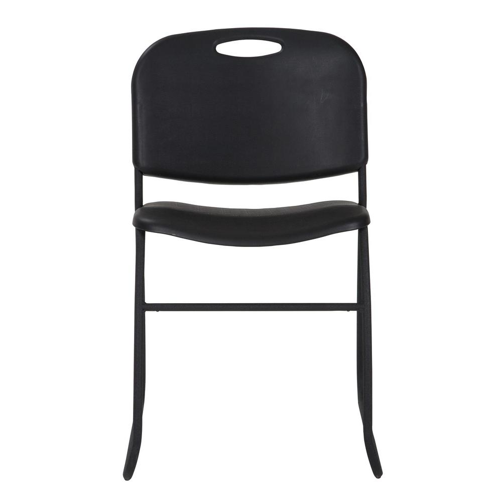 Cosco Black Resin Seat Stackable Folding Chair (Set of 4)