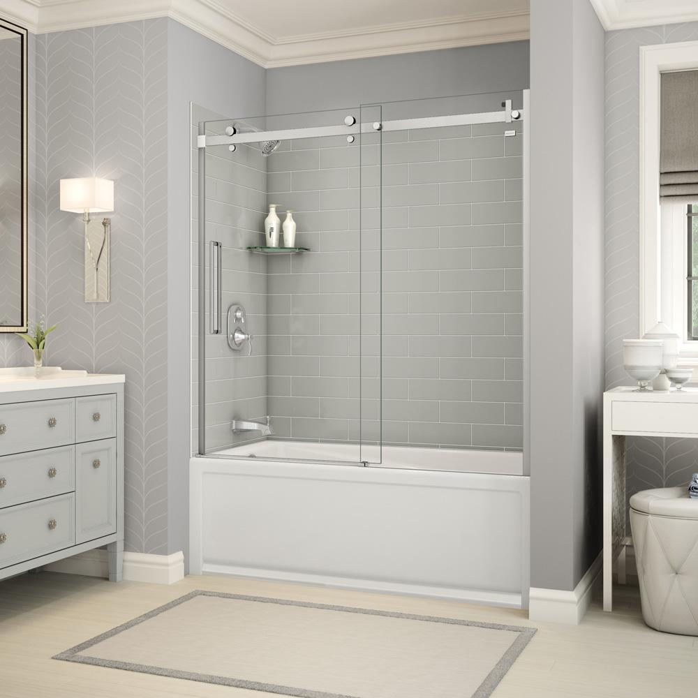 The Home Depot Installed Custom Shower Doors Add a personalized touch to your bathroom with a Custom Installed Shower Door from the Home Depot. Available in a variety of patterns and classic finishes, our designs are manufactured to complement your home and accommodate bathrooms of all sizes. Choose between our framed, semi-framed or frameless options, and let our team take care of the installation and clean up.