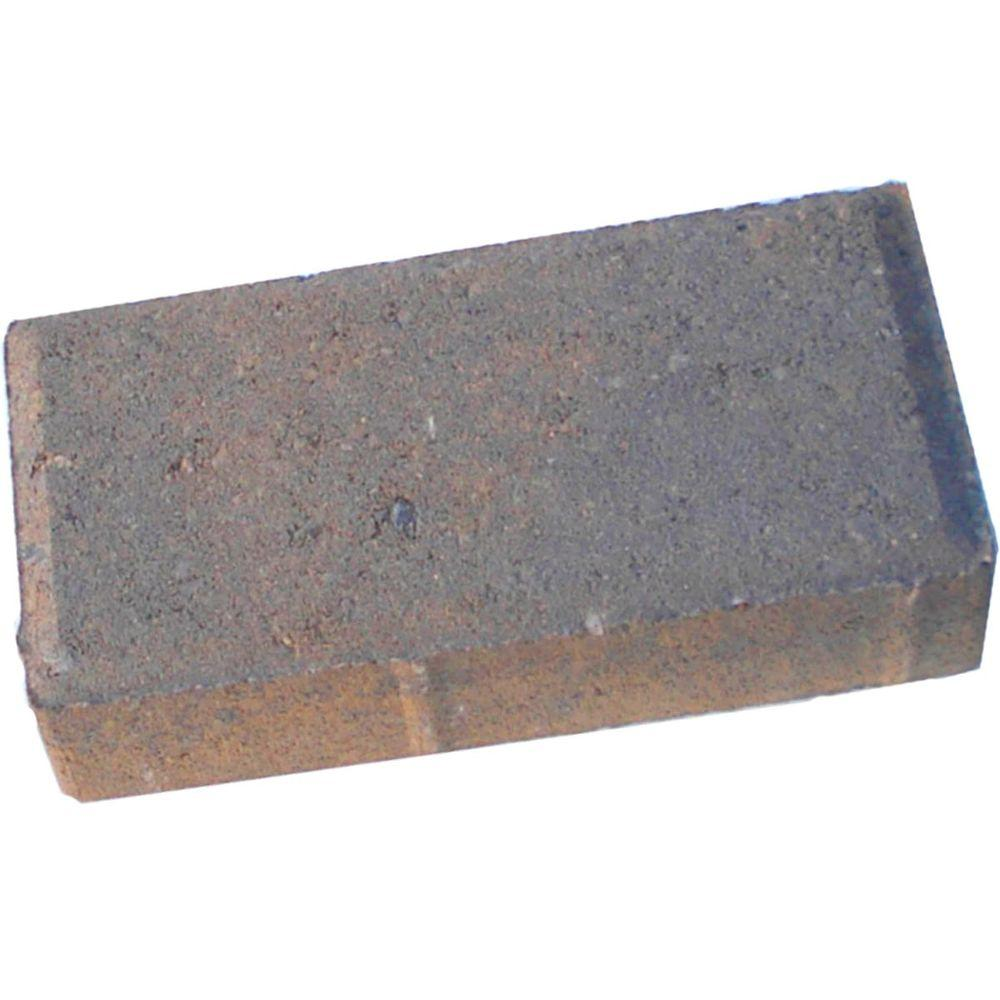 8 in. x 4 in. x 1.75 in. Tan Charcoal Concrete