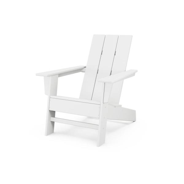 Grant Park White Modern Plastic Outdoor Patio Adirondack Chair