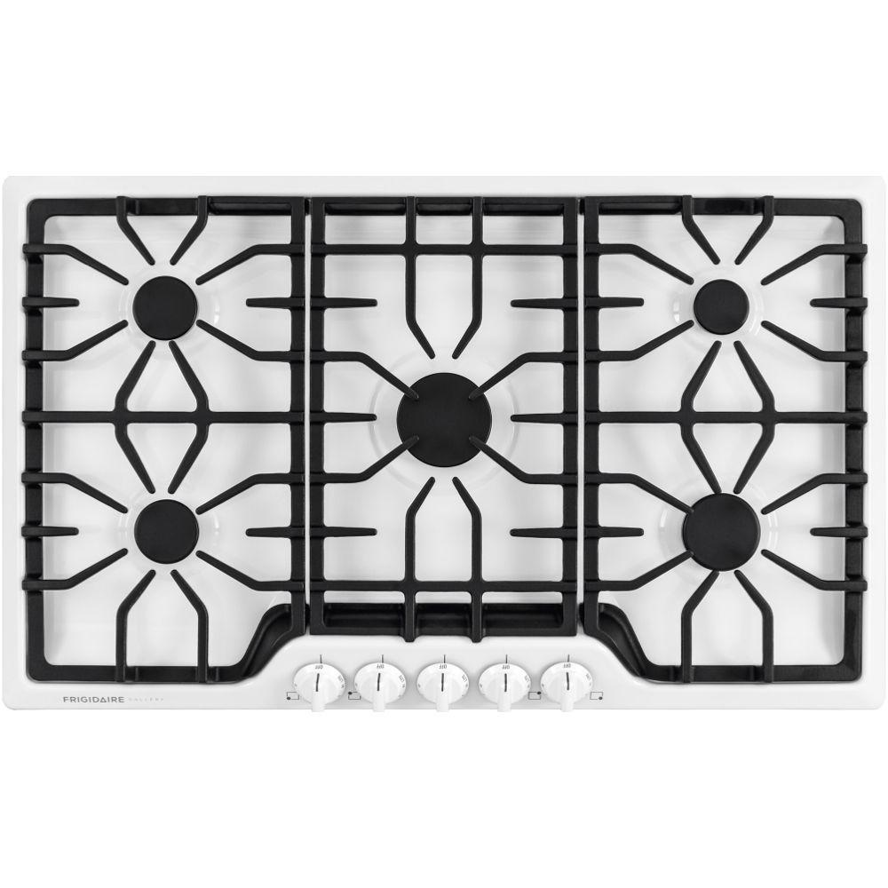 Frigidaire Gallery 36 in. Gas Cooktop in White with 5 Burners