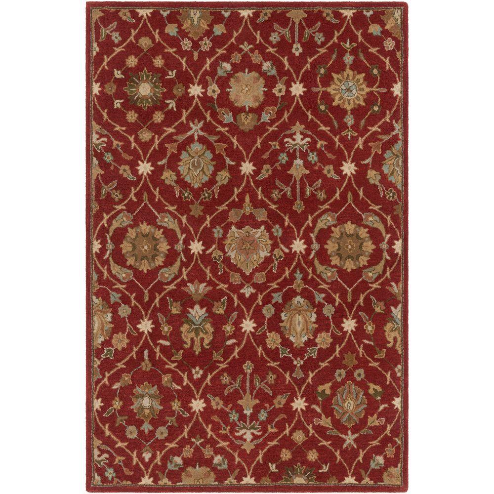 Middleton Alexandra Red 3 ft. x 5 ft. Indoor Area Rug