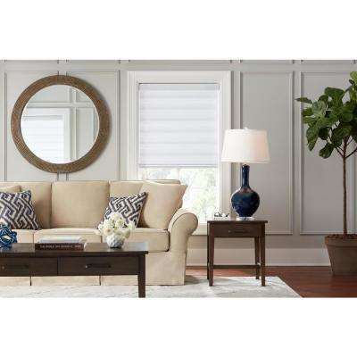Cut-to-Size White Cordless Light Filtering Semi Sheer Roller Shades 39 in. W x 72 in. L