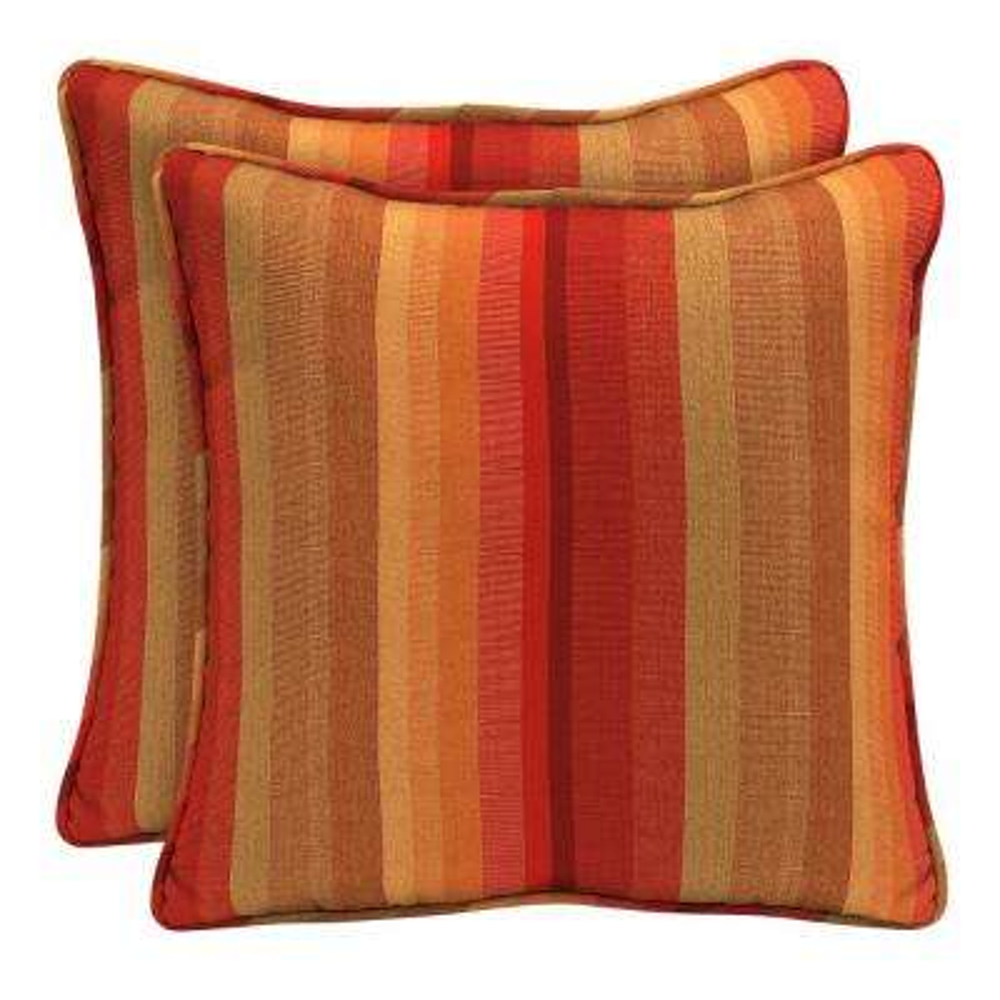 Sunbrella Astoria Sunset Square Outdoor Throw Pillow (2-Pack)