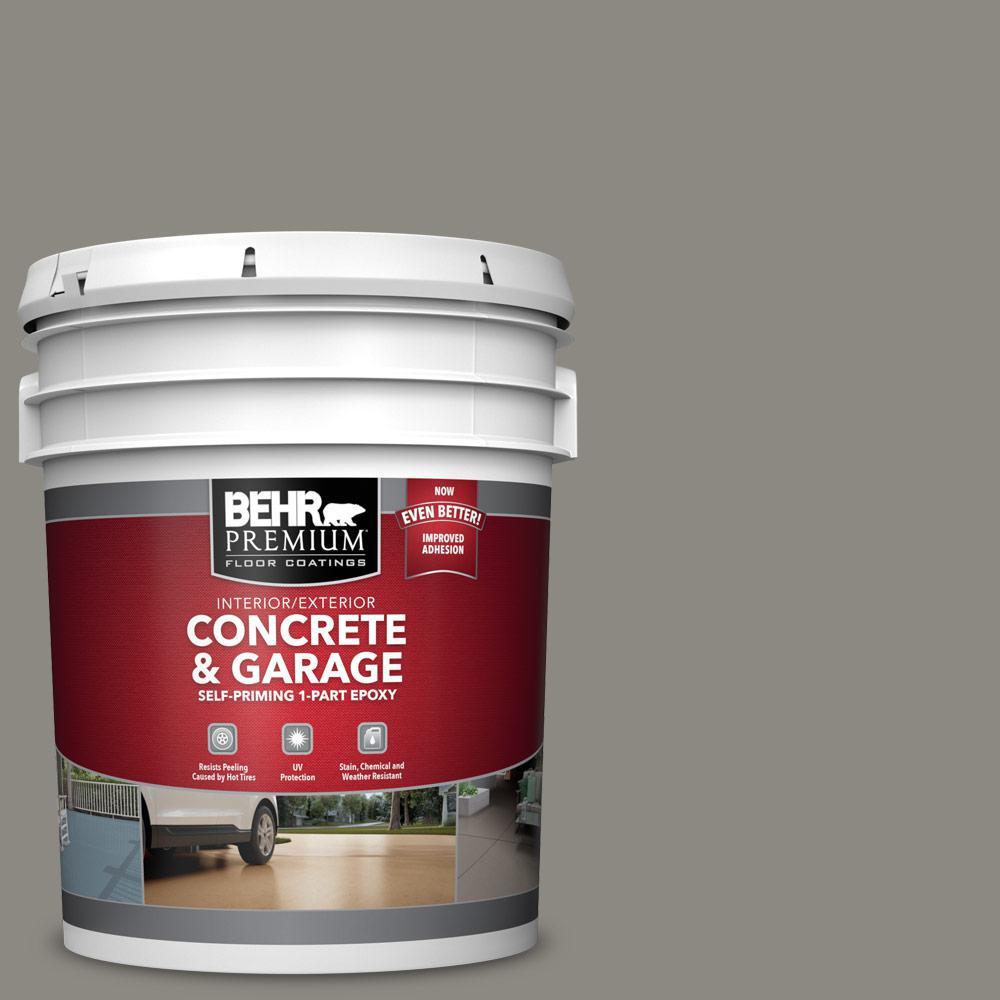 Behr Premium 5 Gal Bxc 55 Concrete Sidewalk Self Priming 1 Part Epoxy Satin Interior Exterior Concrete And Garage Floor Paint 90005 The Home Depot