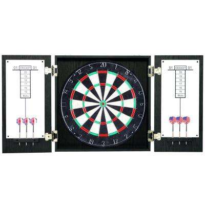 Black Winchester Dartboard and Cabinet Set