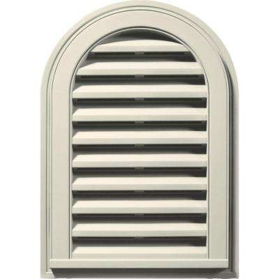 14 in. x 22 in. Round Top Gable Vent in Linen