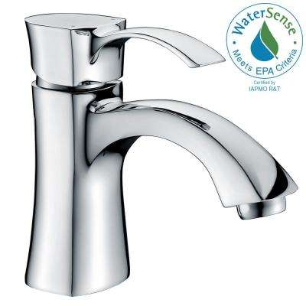 Alto Series Single Hole Single-Handle Mid-Arc Bathroom Faucet in Polished Chrome