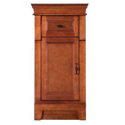 Naples 16 3/4 in. W x 14-1/2 in. D x 34 in. H Bathroom Linen Cabinet in Warm Cinnamon