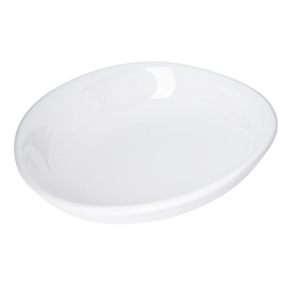 Carlisle Stadia 9.5 in. White Melamine Pasta Plate (12-Pack) 53004