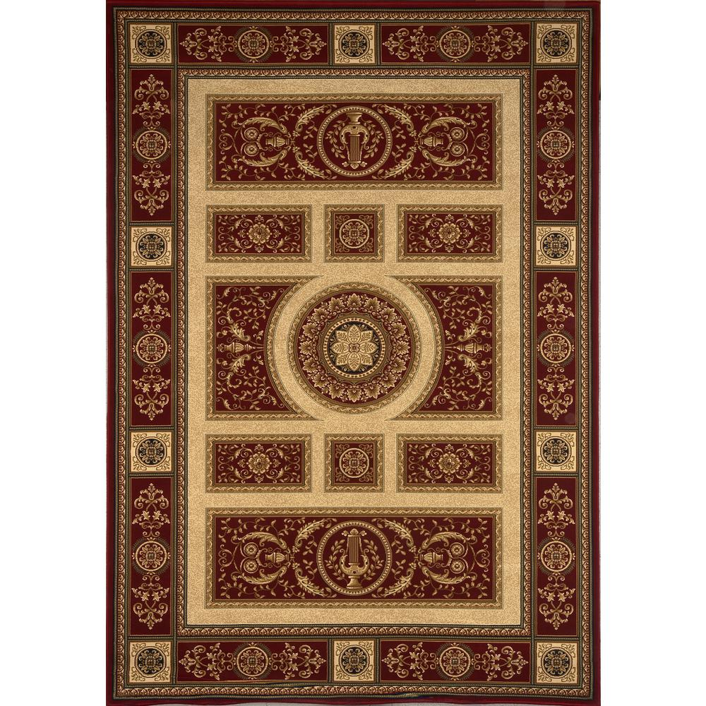 Home Dynamix Empire Red 5 ft. 2 in. x 7 ft. 6 in. Indoor Area Rug