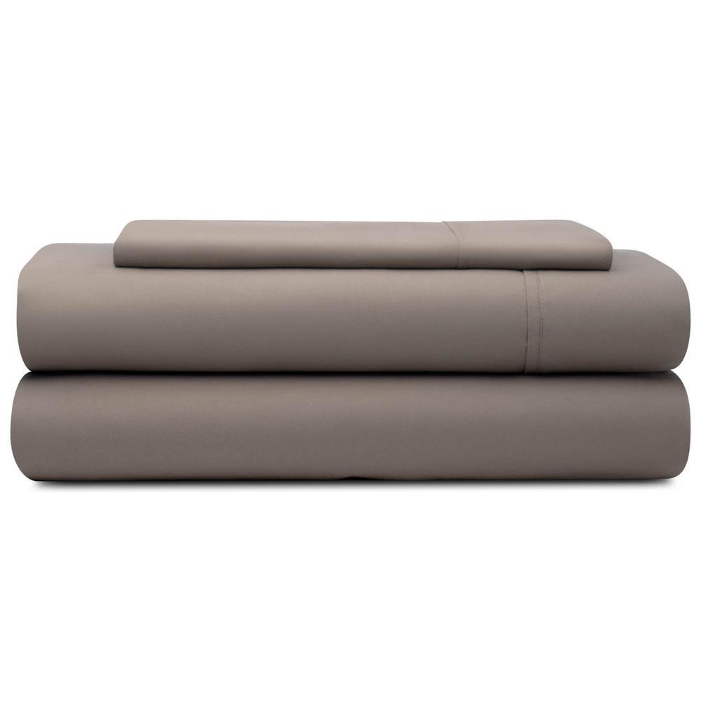 3-Piece Sandstone Microfiber Twin Sheet Set