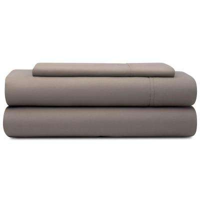 3-Piece Sandstone Microfiber Twin Sheet Set