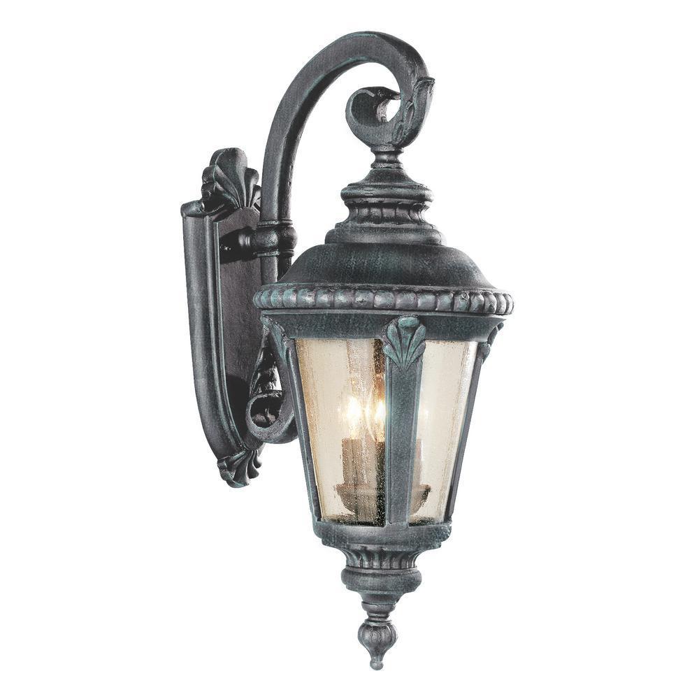 Commons 3-Light Swedish Iron Outdoor Wall Mount Lantern