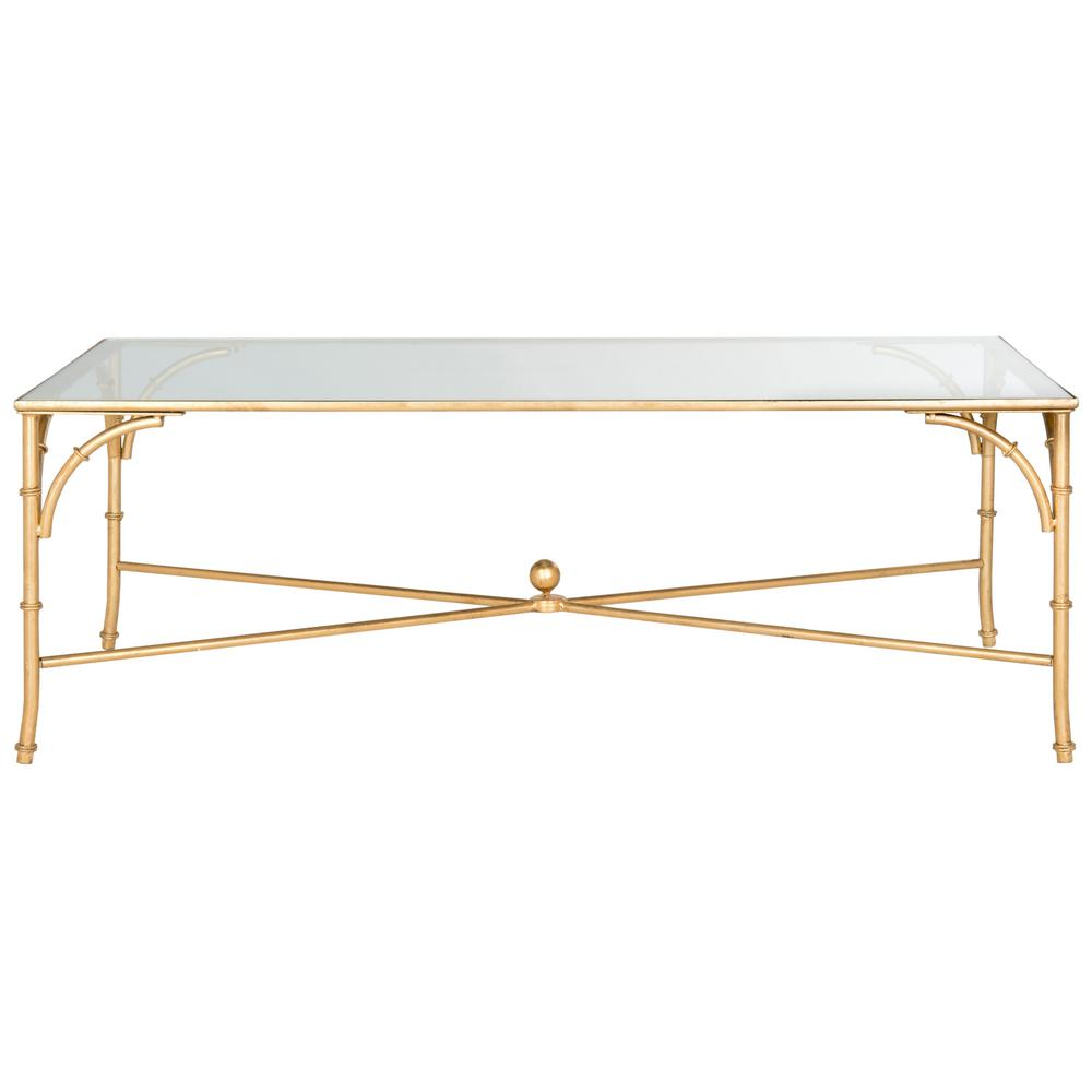 Safavieh Maurice Gold Coffee Table Fox2545a The Home Depot