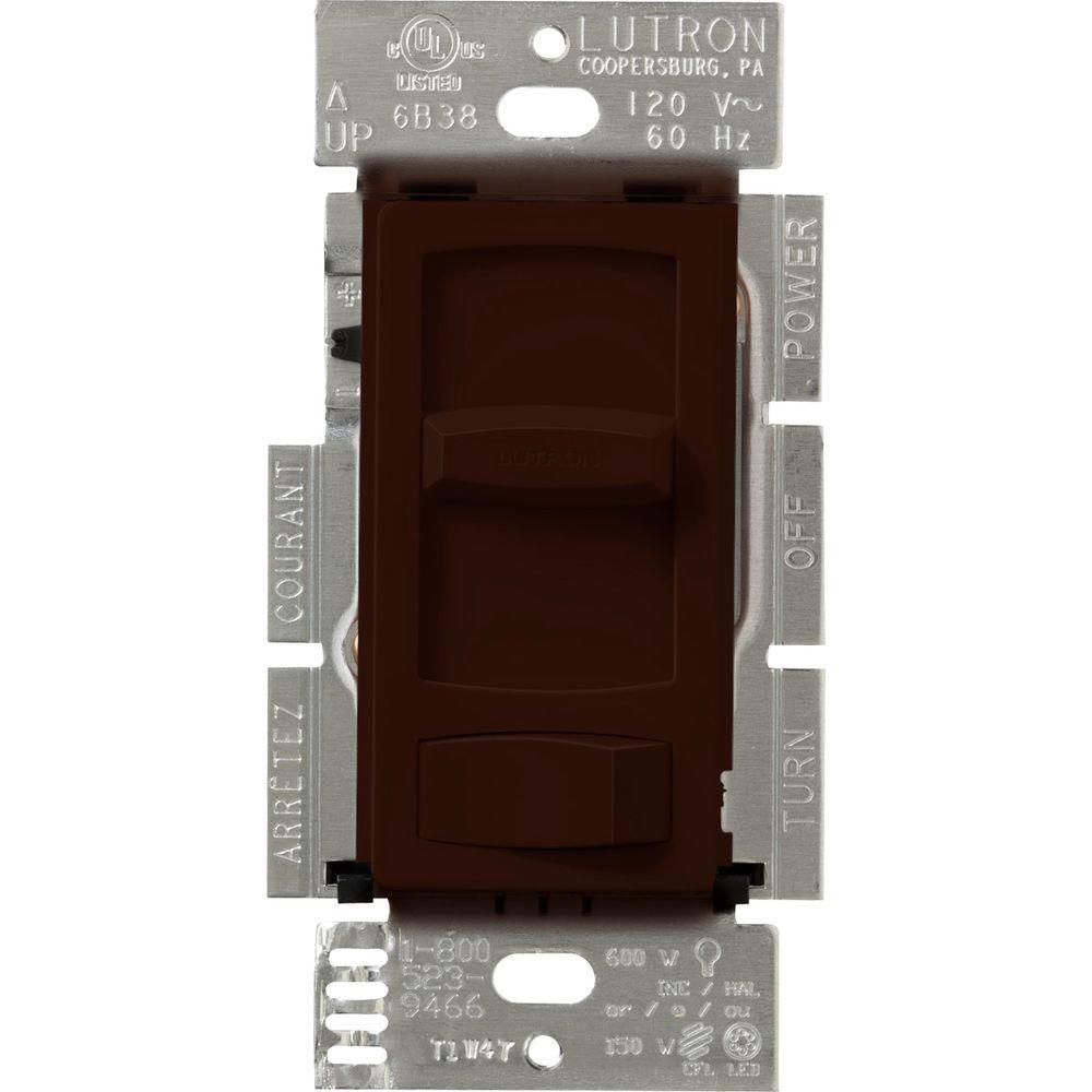 Skylark Contour 150-Watt Single-Pole/3-Way Preset CFL-LED Dimmer - Brown