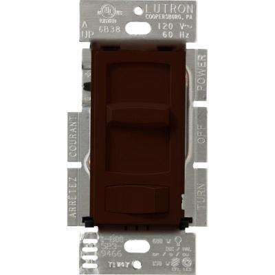 Skylark Contour C.L Dimmer Switch for Dimmable LED, Halogen and Incandescent Bulbs, Single-Pole or 3-Way, Brown