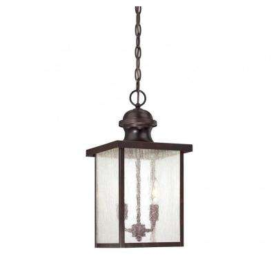 Monti 2-Light English Bronze Outdoor Hanging Lantern