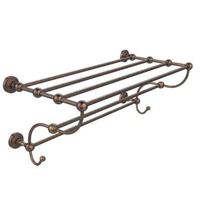 Waverly Place Collection 36 in. W Train Rack Towel Shelf in Venetian Bronze