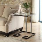 Royce Black Powder Coated End Table